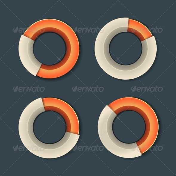 GraphicRiver Infographic Chart Ring Diagram Set 8157398