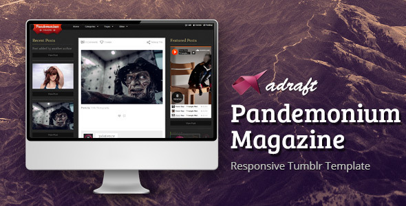 Pandemonium Magazine - Responsive Tumblr Theme - Blog Tumblr