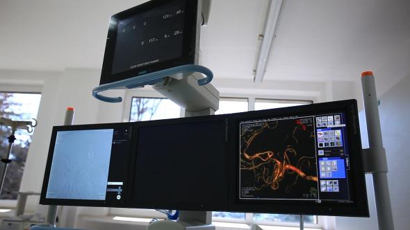 Heart Monitor EKG Coronary Angiography