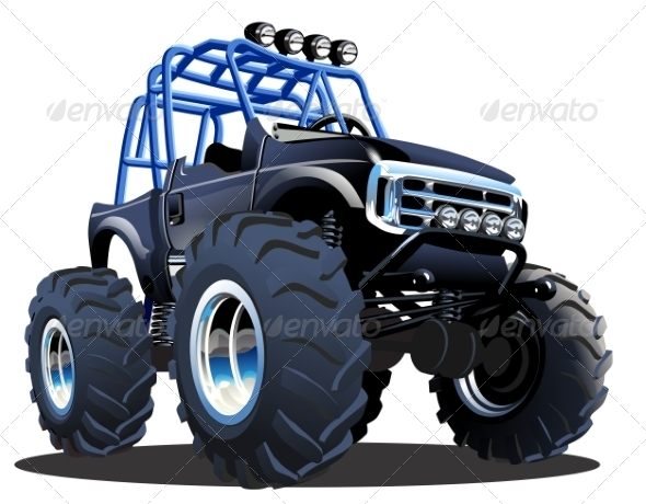 GraphicRiver Cartoon Monster Truck 8157508