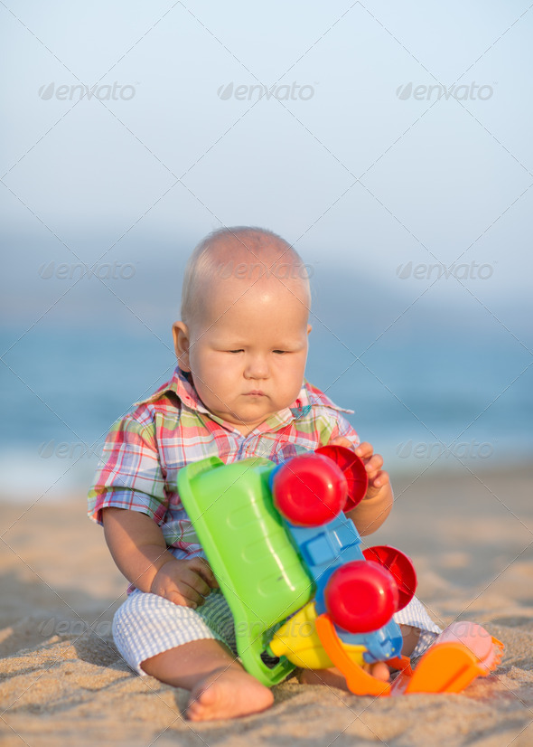 Playing baby - Stock Photo - Images