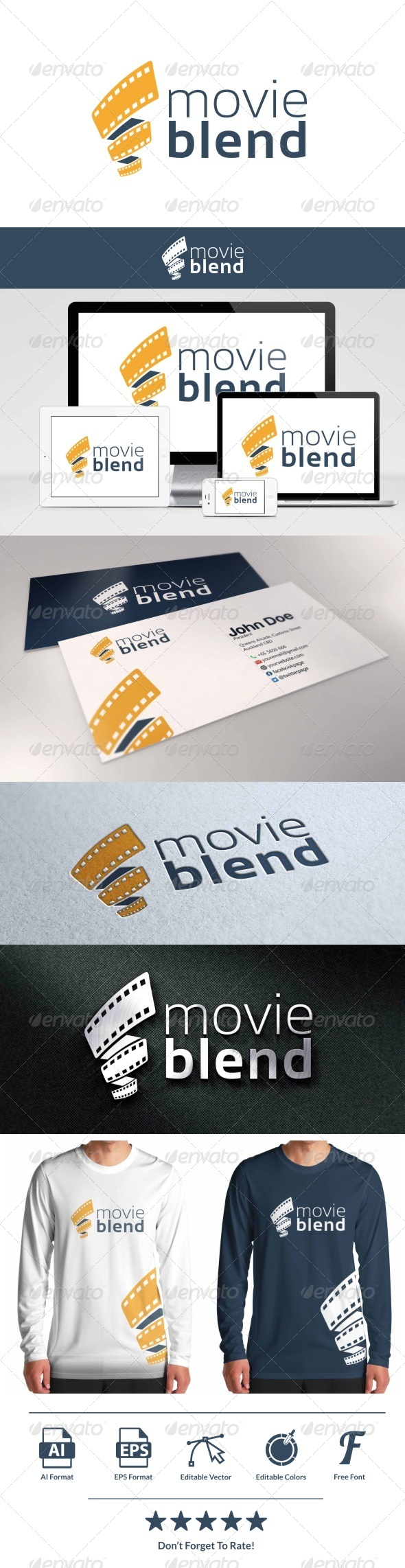 GraphicRiver Movie Blend Logo 8157857
