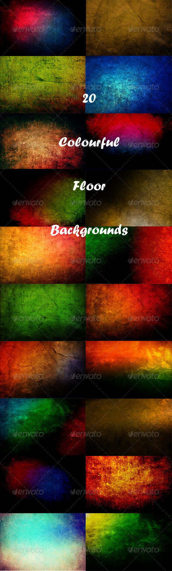 GraphicRiver 20 Colourful Floor Backgrounds 8075378