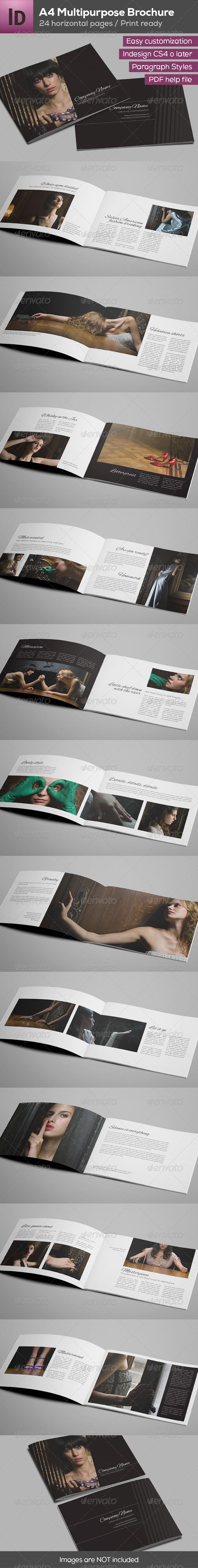 GraphicRiver A4 Multipurpose Minimalist Brochure 24 Pages 8158158