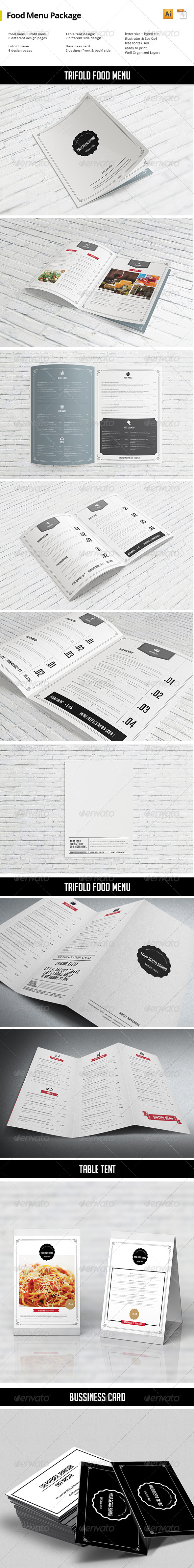 GraphicRiver Food Menu Package 8158182