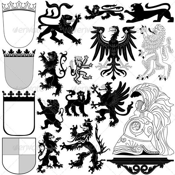 GraphicRiver Heraldic Royal Elements 8158194