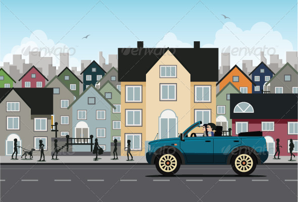 GraphicRiver City Driving 8158193
