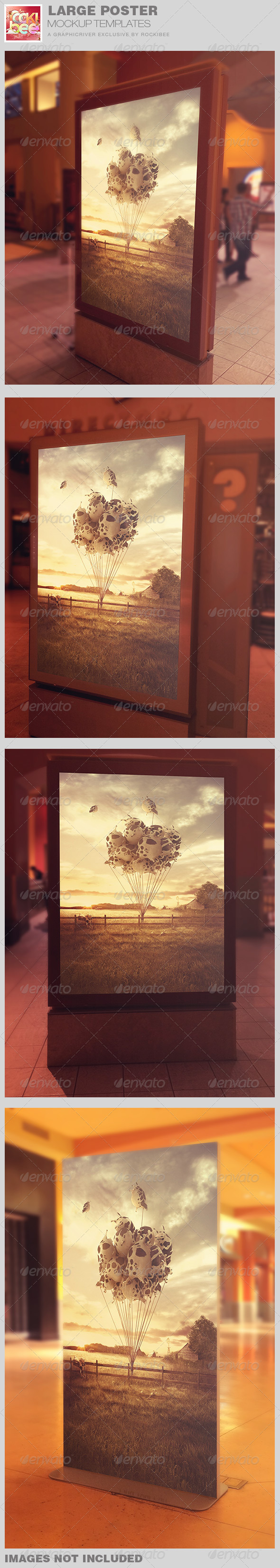 GraphicRiver Large Poster Mockup Templates 8147882