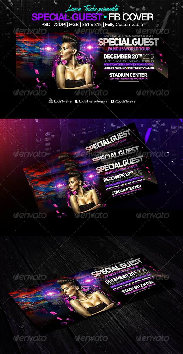 GraphicRiver Special Guest v2 Facebook Cover 8158454