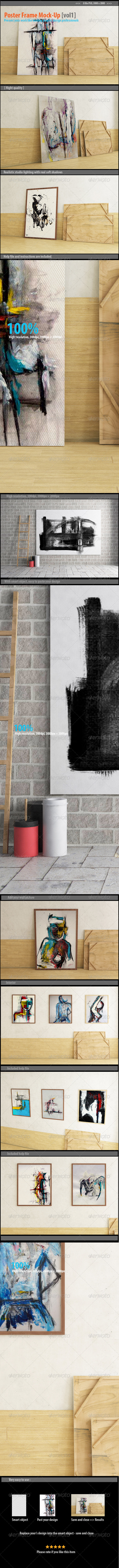 GraphicRiver Poster Frame Mock-Up [vol1] 8150982