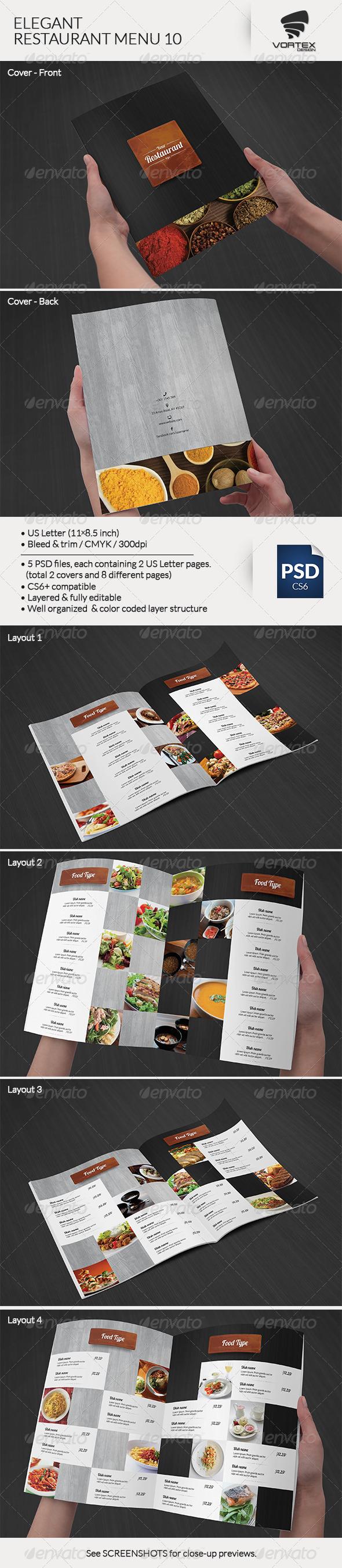 GraphicRiver Elegant Restaurant Menu 10 8158457
