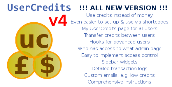 UserCredits for WordPress