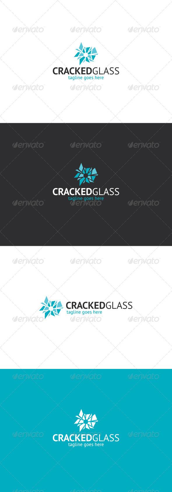 GraphicRiver Cracked Glass Logo Gunshop 8159008