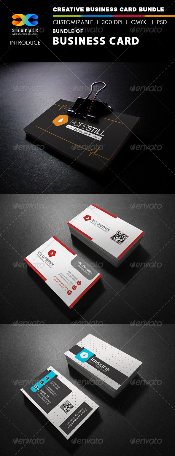 GraphicRiver Business Card Bundle 3 in 1-Vol 38 8159097