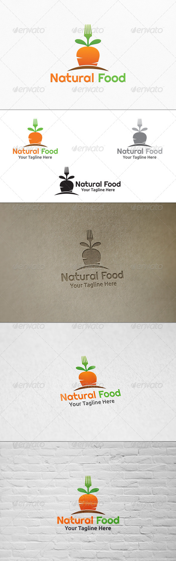 GraphicRiver Natural Food Logo Template 8159132