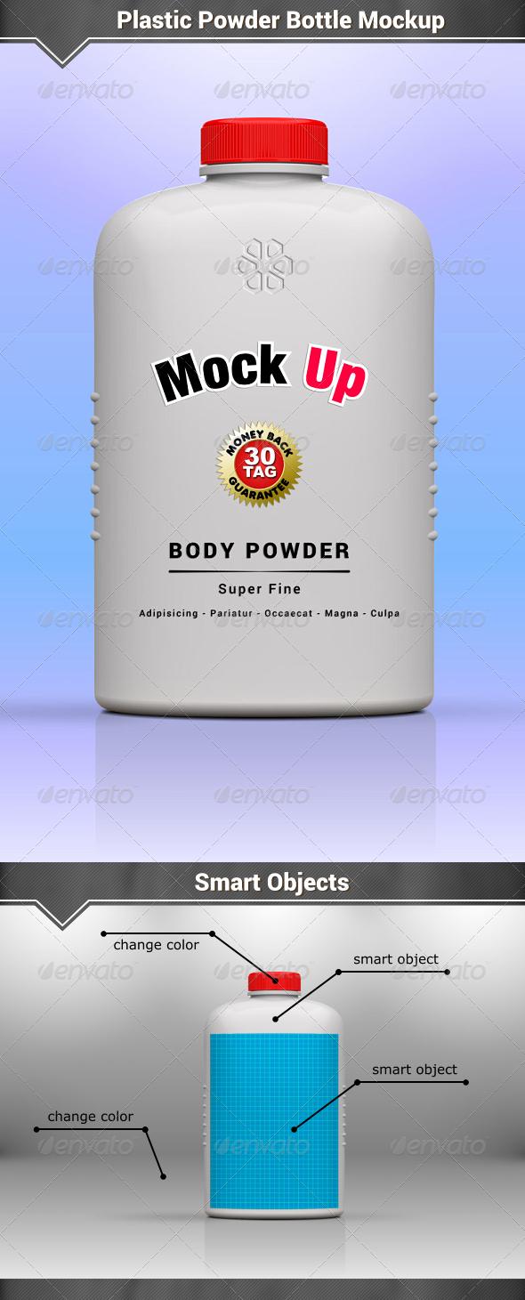 GraphicRiver Plastic Powder Bottle Mockup 8159160
