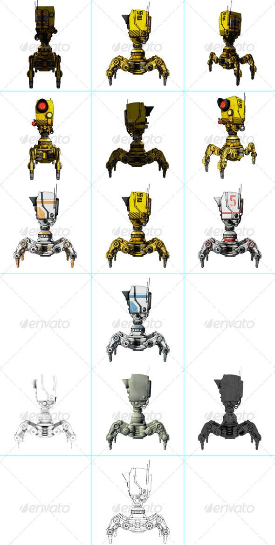 GraphicRiver Cartoon Camera Robot 8159268