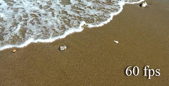 Waves on the Beach Sand