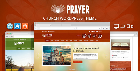 Prayer - Church Responsive WordPress Theme - Churches Nonprofit