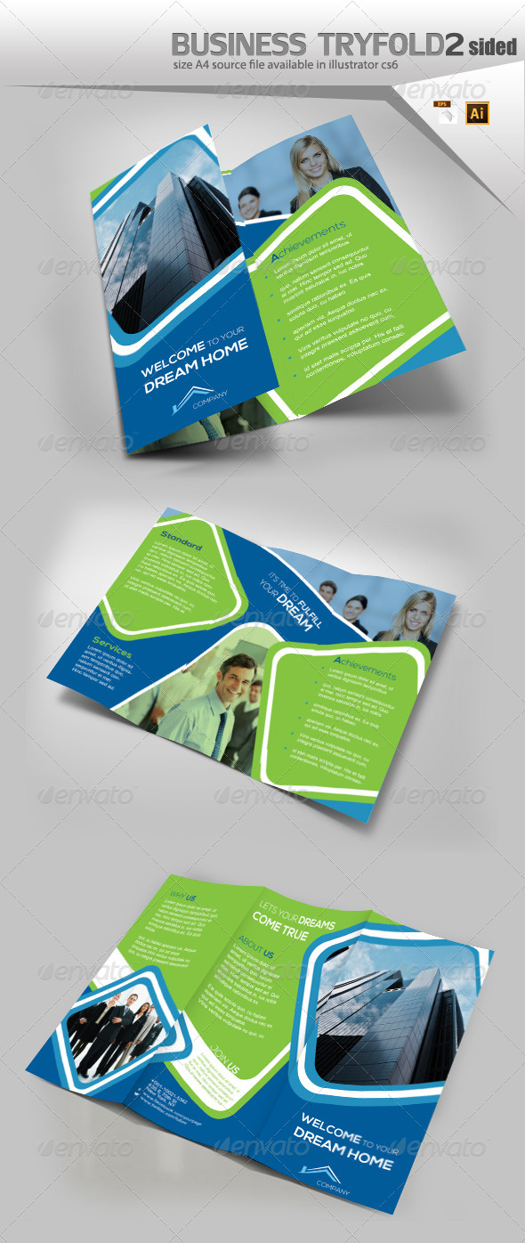 GraphicRiver Business TriFold Fold Design 8159866