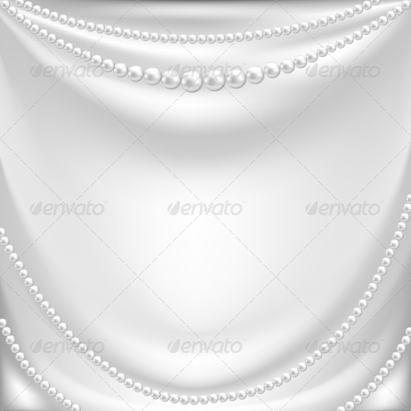 GraphicRiver Silk Drapery and Pearl Necklace 8159921