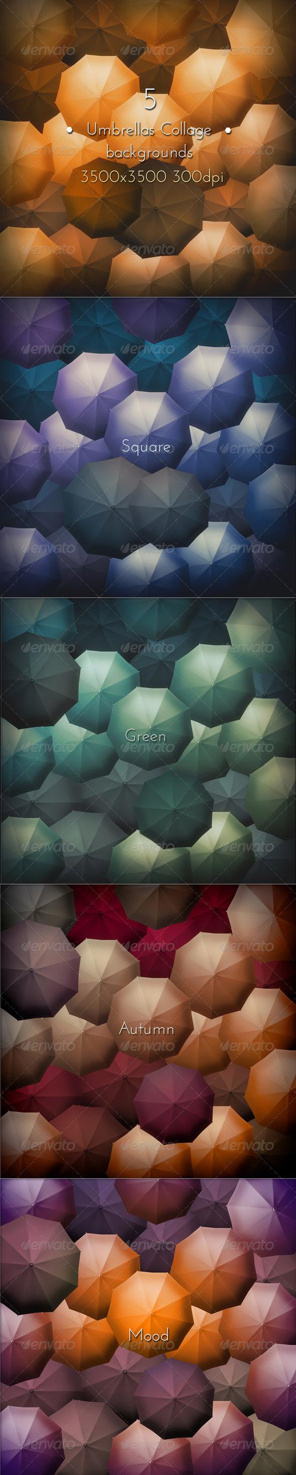 GraphicRiver Umbrellas Collage 8159923