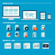 Flat Design Icons for Web Development - GraphicRiver Item for Sale
