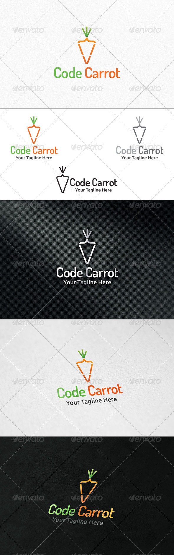 GraphicRiver Code Carrot Logo Template 8159943