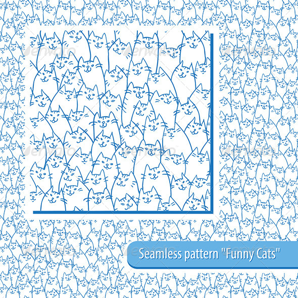 GraphicRiver Seamless Cats Pattern 8159978