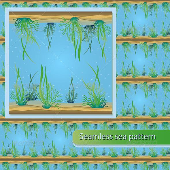 GraphicRiver Seamless Sea Pattern 8160034