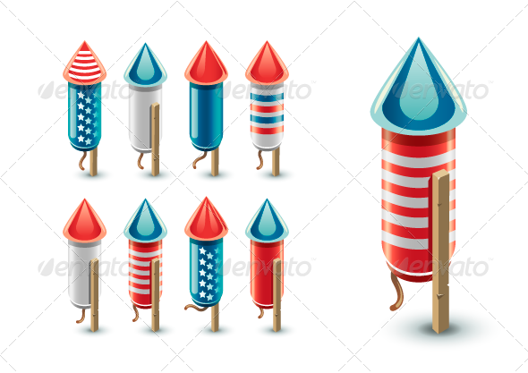 GraphicRiver Firework Rockets 8160161