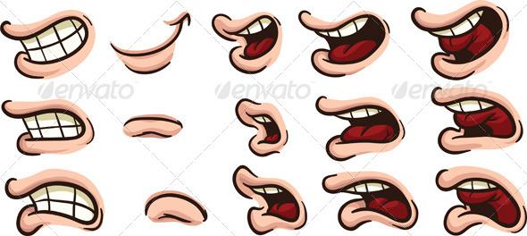 GraphicRiver Cartoon Mouths 8160183