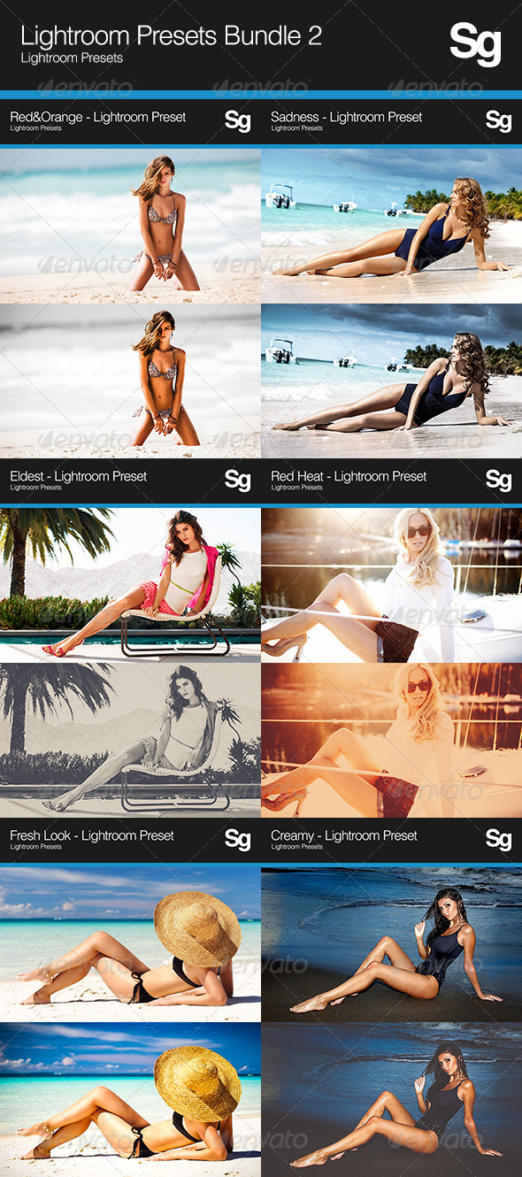 GraphicRiver Lightroom Presets Bundle 2 8160226