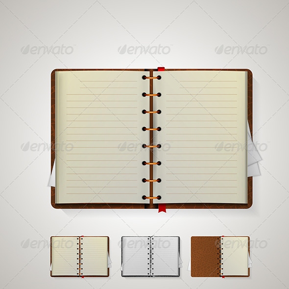 GraphicRiver Illustration of Notebooks 8160711