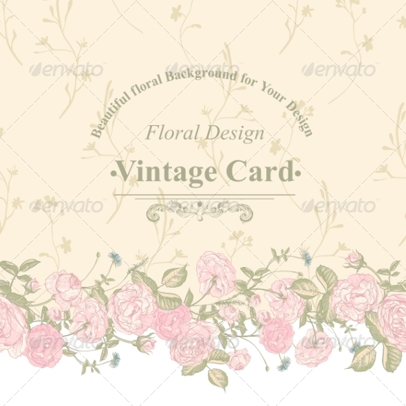 GraphicRiver Seamless Border of Blossom Roses 8160715