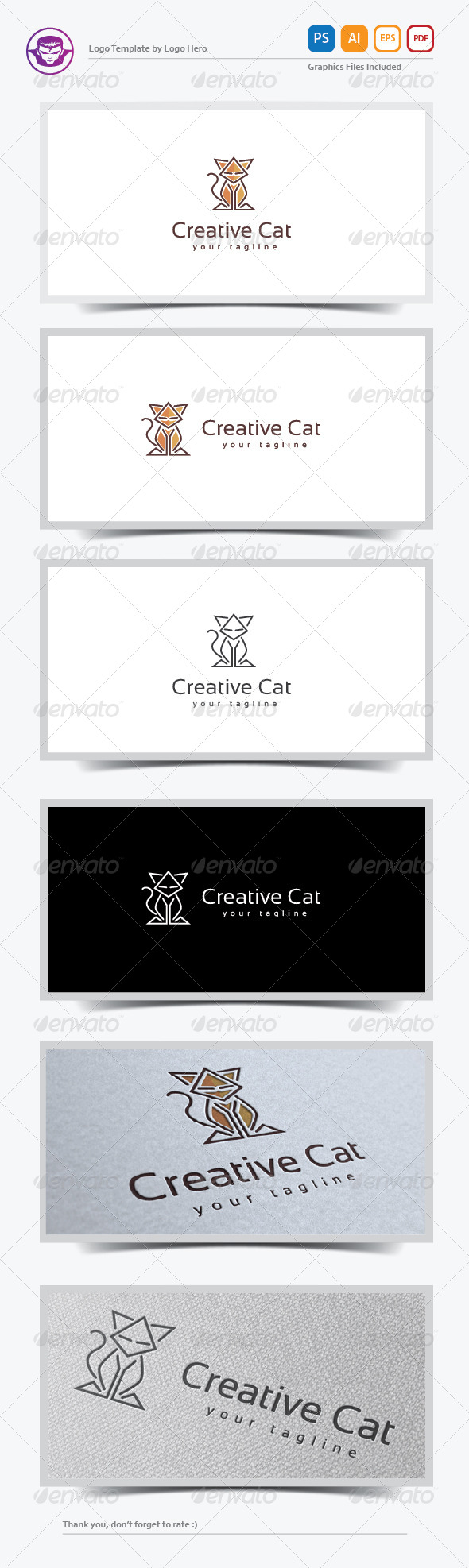 GraphicRiver Creative Cat Logo Template 8160750