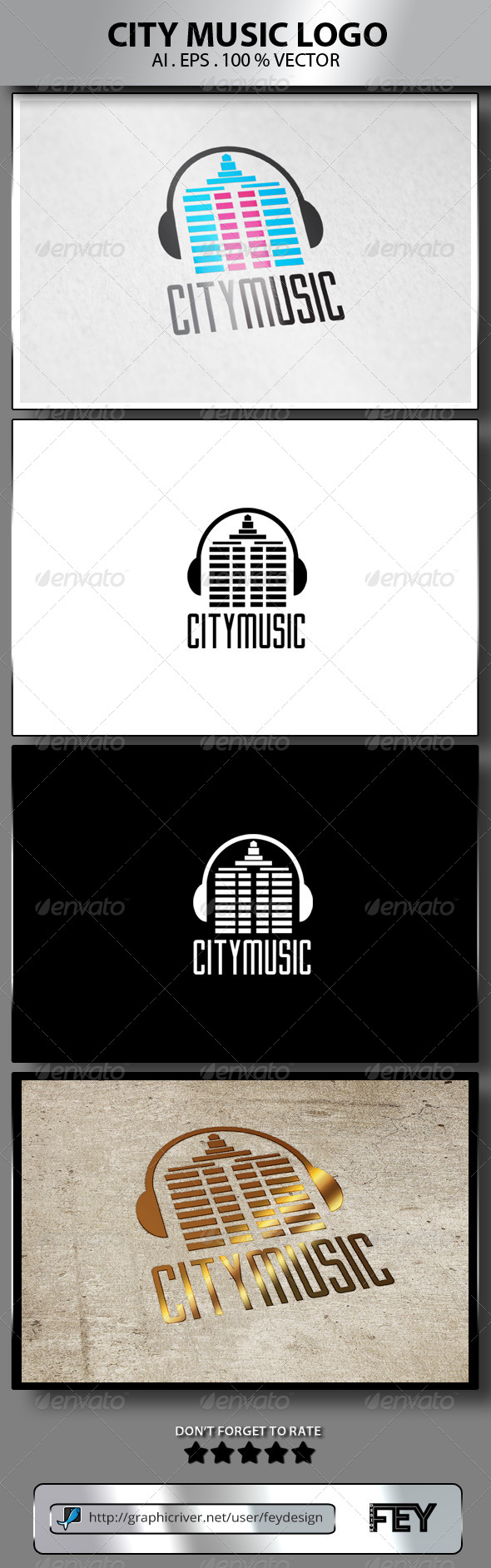 GraphicRiver City Music Logo 8160806