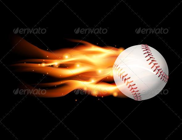 GraphicRiver Vector Flaming Baseball Illustration 8160810