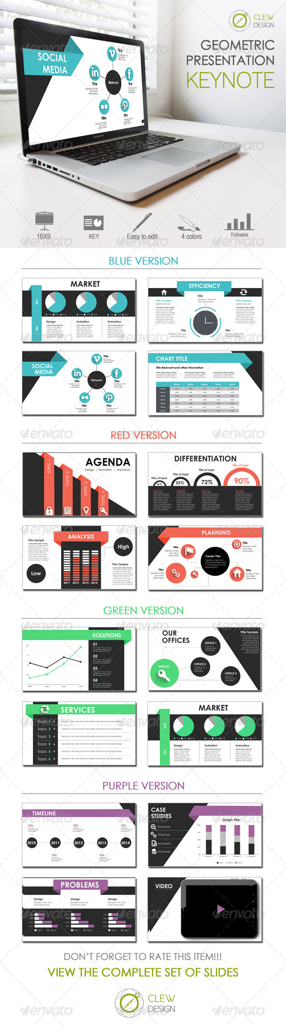 GraphicRiver Keynote Geometric Presentation 8130031