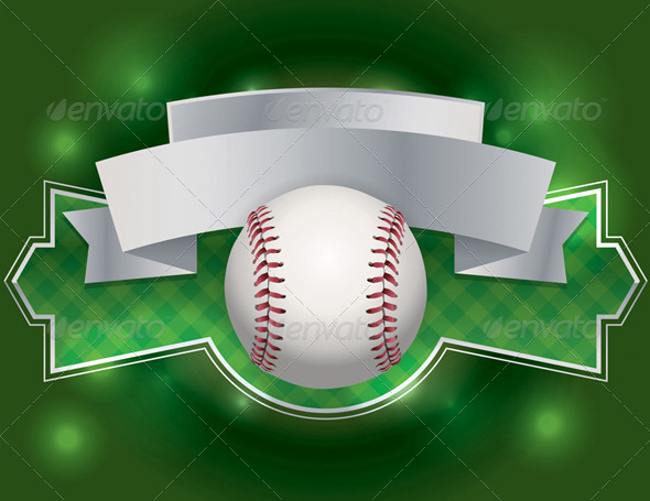 Vector Baseball Emblem Illustration