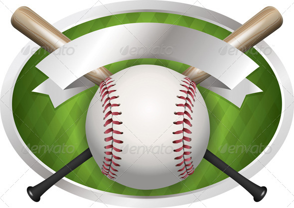 GraphicRiver Vector Baseball and Bat Emblem Illustration 8160833