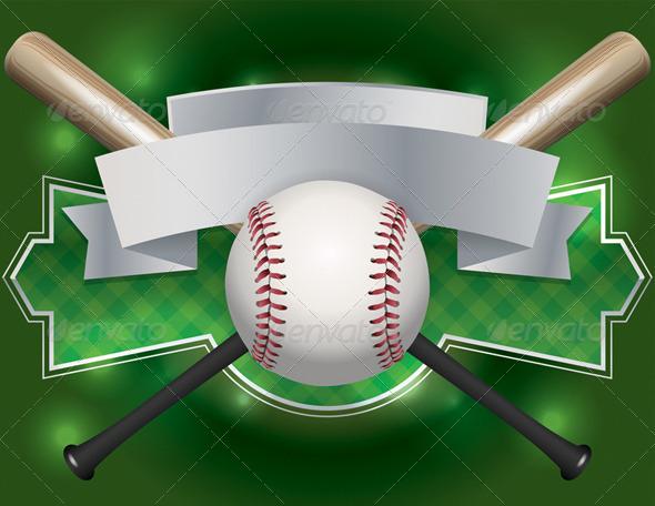 GraphicRiver Vector Baseball Emblem and Banner Illustration 8160856