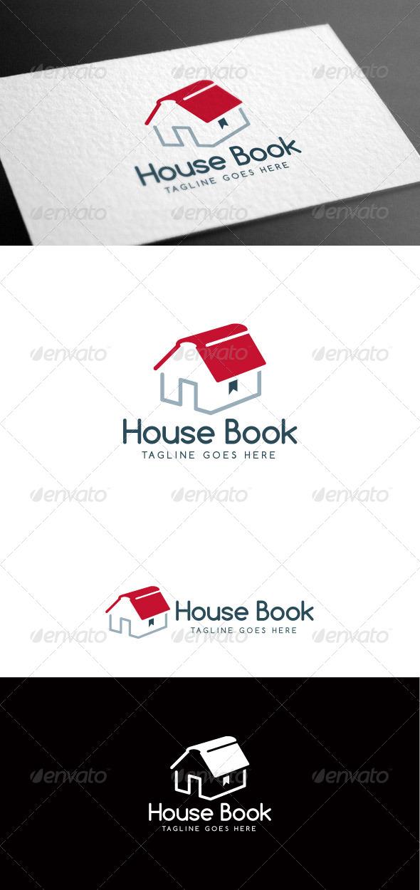 GraphicRiver House Book Logo Template 8160954