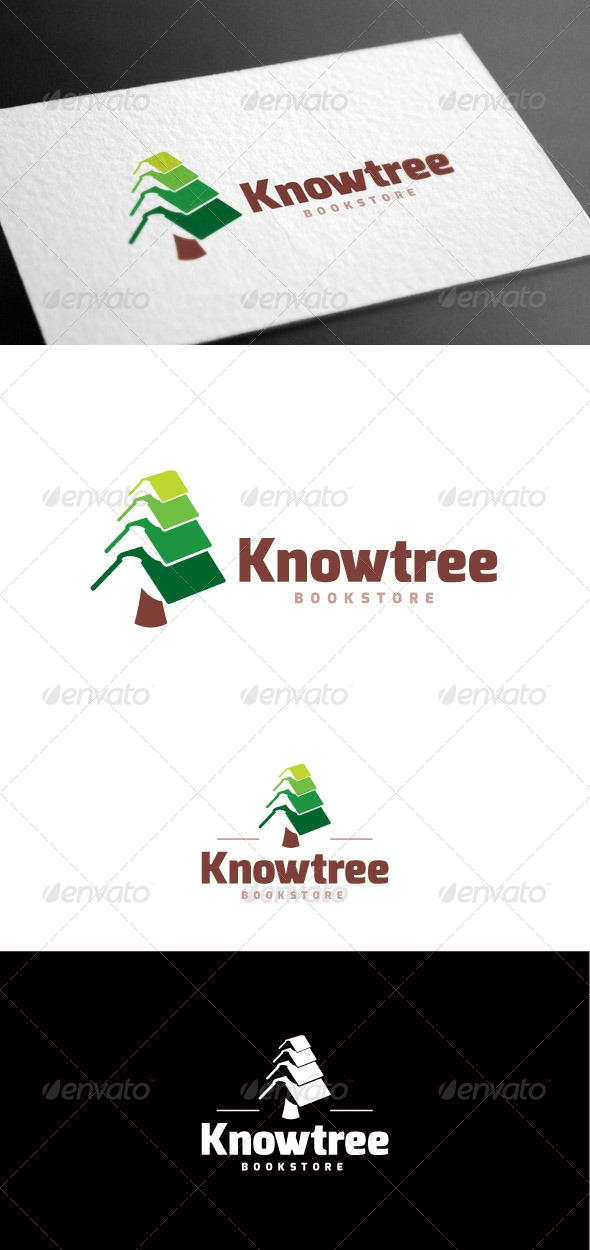 GraphicRiver Knowtree Bookstore Logo Template 8160972