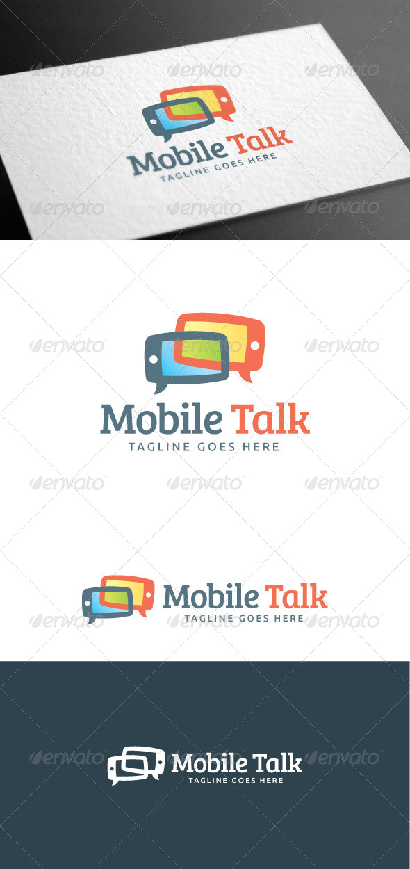 GraphicRiver Mobile Talk Logo Template 8160975