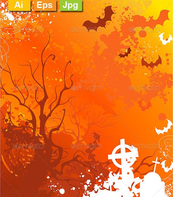 GraphicRiver Orange Background on Halloween 8161036