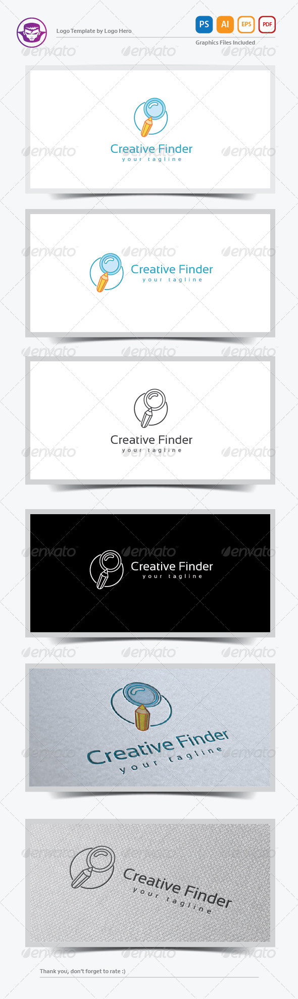 GraphicRiver Creative Finder Logo Template 8161097