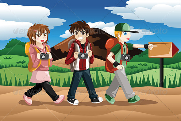 GraphicRiver Children Going on an Adventure 8161207