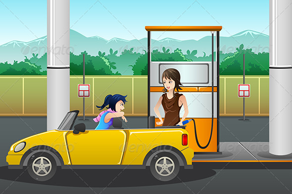 GraphicRiver People at Gas Station 8161245