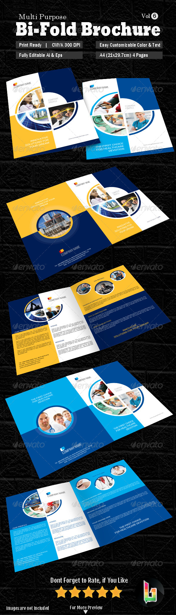 Multipurpose Bi-fold Brochure Vol-6